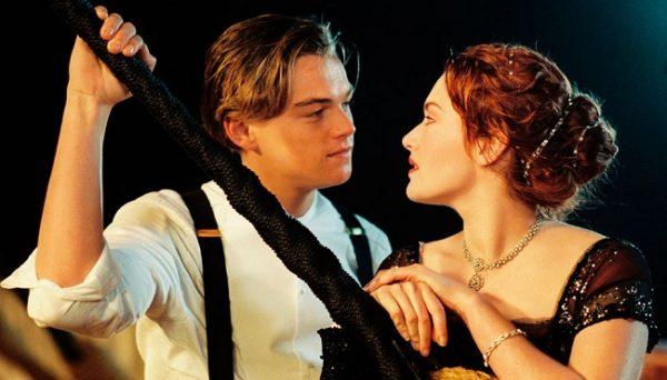 Jack y Rose, protagonistas de Titanic