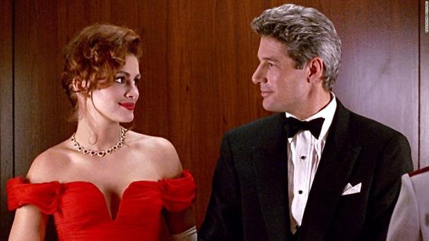 Julia Roberts y Richard Gere caracterizados como sus personajes en Pretty Woman (1994)